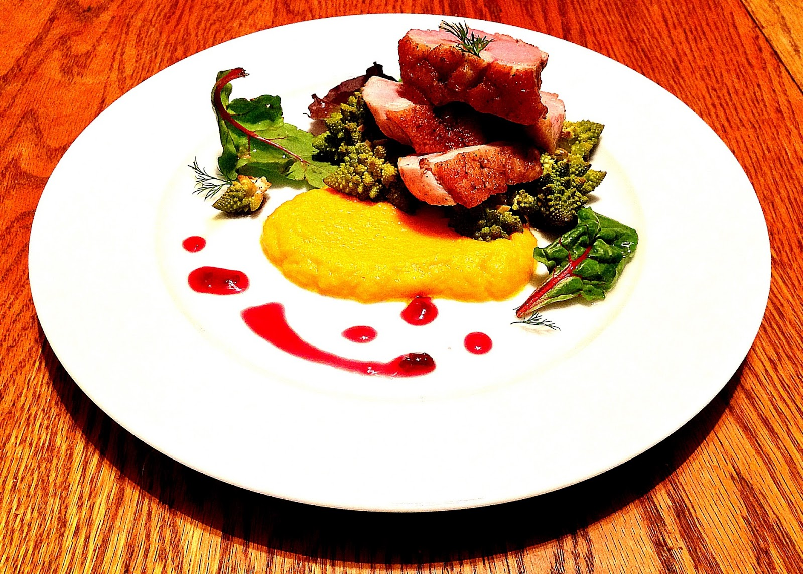 the graffiti cookery: recipe: roasted duck, cherry gastrique