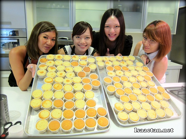 Pretty ladies with the freshly baked cupcakes