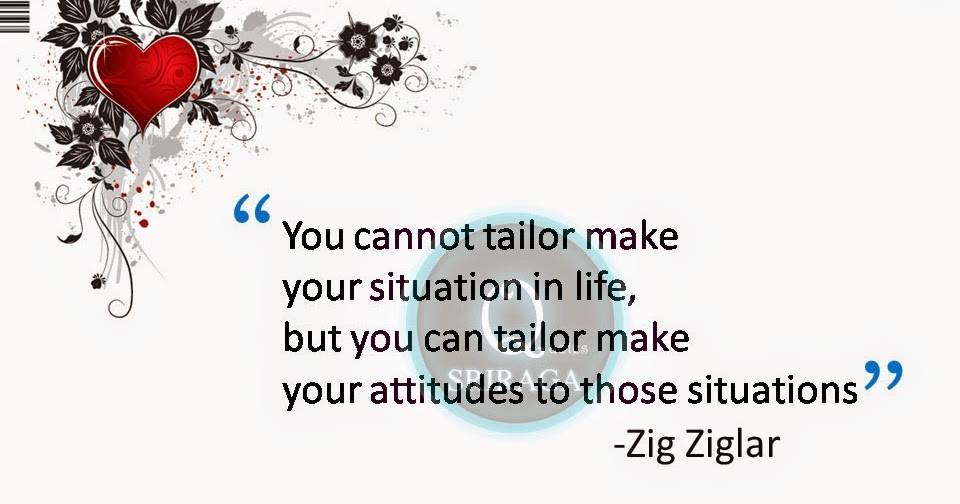 quotes about situations and attitude for better life zig