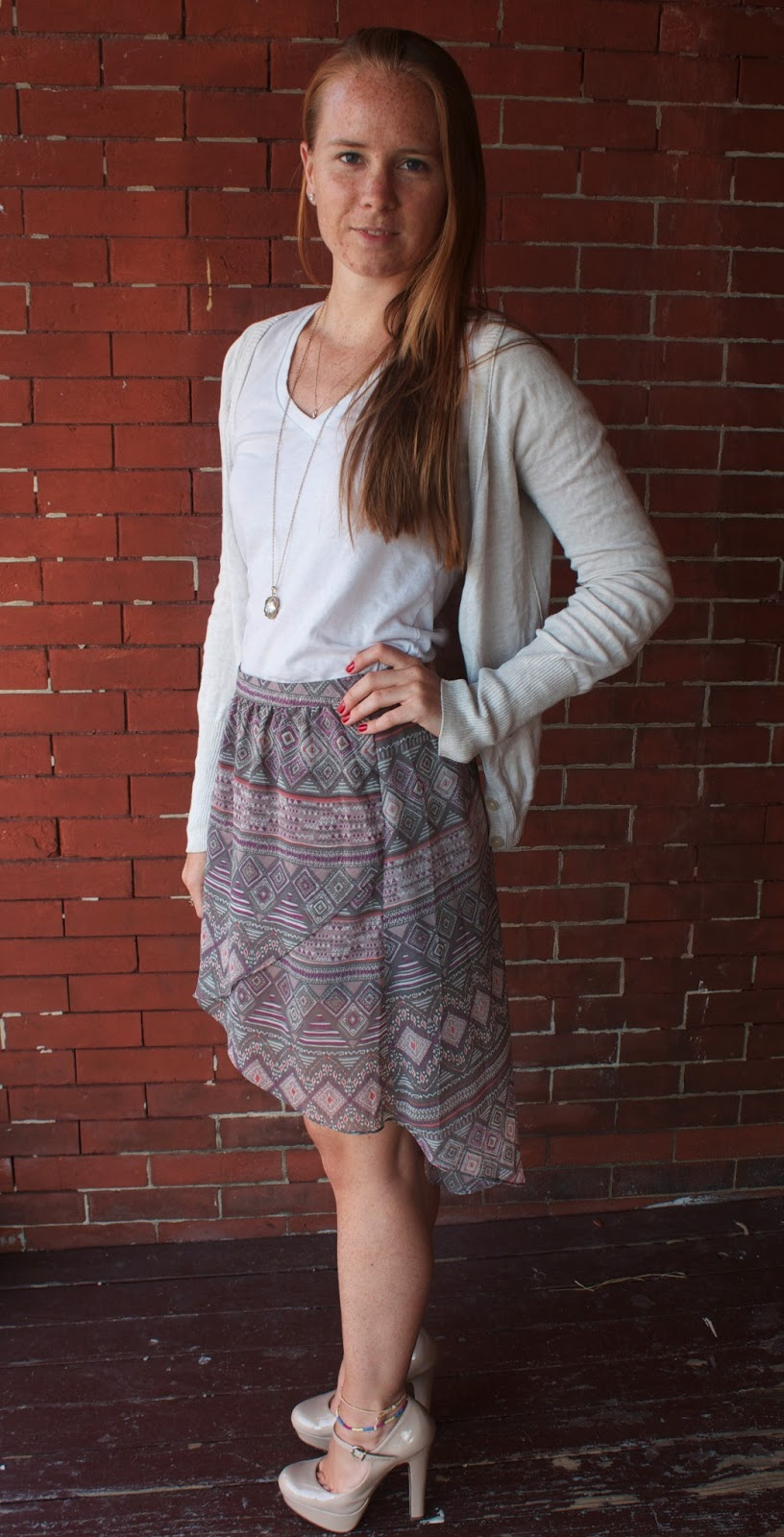 Daily Style: Tribal Print Hi-Low Skirt