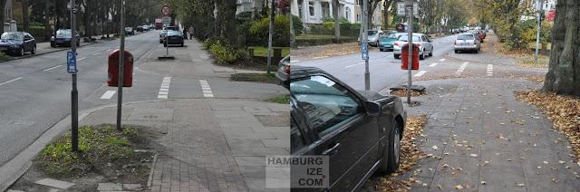 "Heimfelder Straße - ehemliger ""Radweg"""