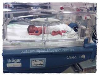 Jaime en la incubadora