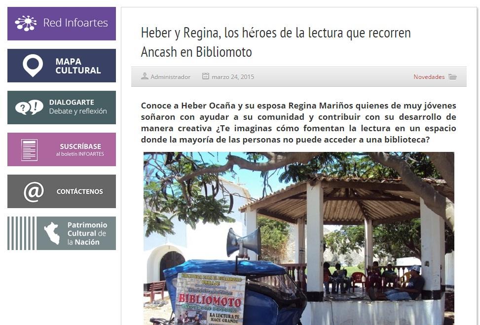 INFOARTES - MINISTERIO DE CULTURA - PERU