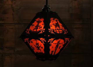 View 8 of a paper Halloween lantern by Robert Aaron Wiley for Bindlegrim