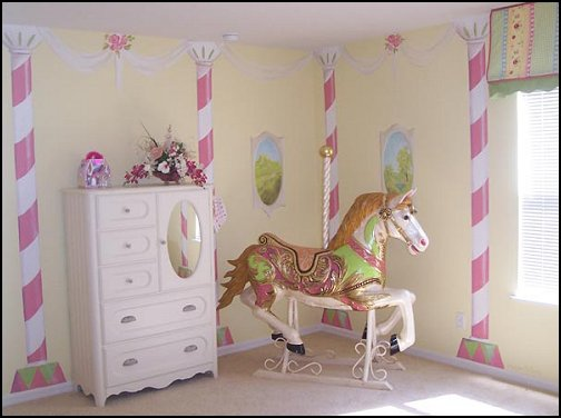 Decorating theme bedrooms Maries Manor carousel theme bedroom