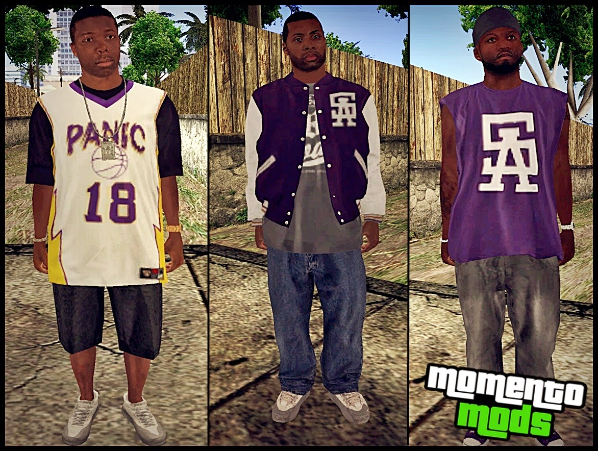 GTA SA - Pack De Skins Ballas Convertidos Do GTA V