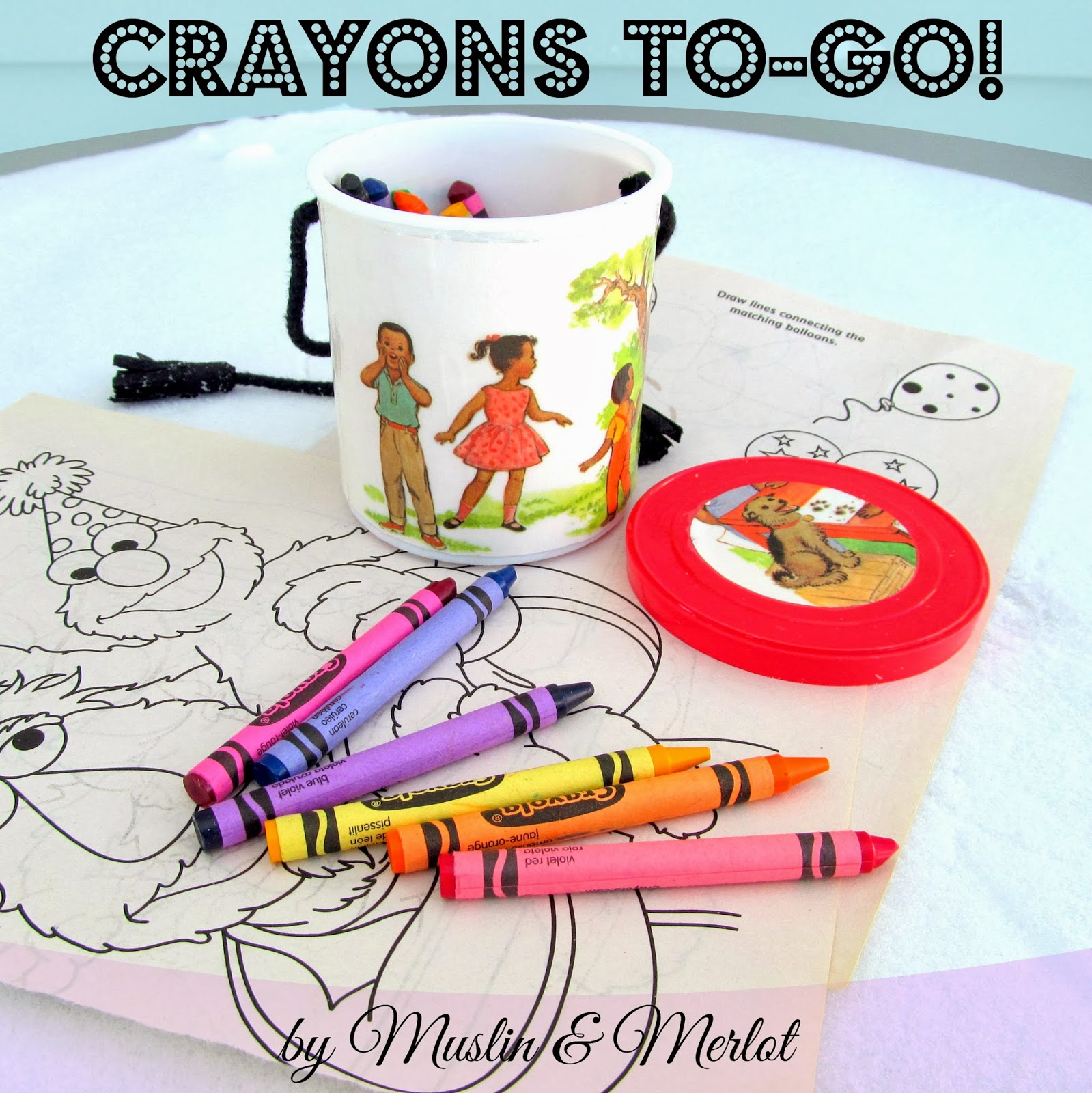 Upcycled Crayon Container by Muslin & Merlot