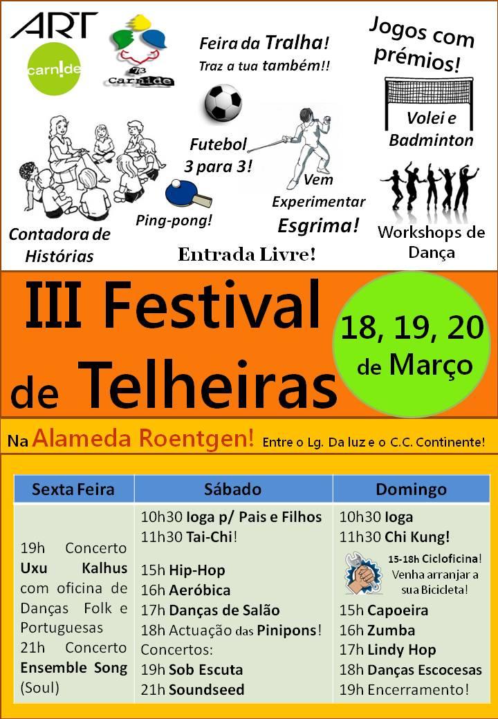 Cartaz do III Festival de Telheiras