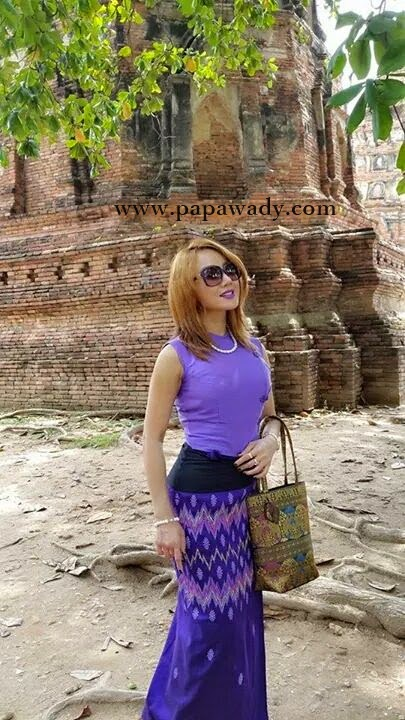 Nang Thiri Mg in Beautiul Myanmar Dress