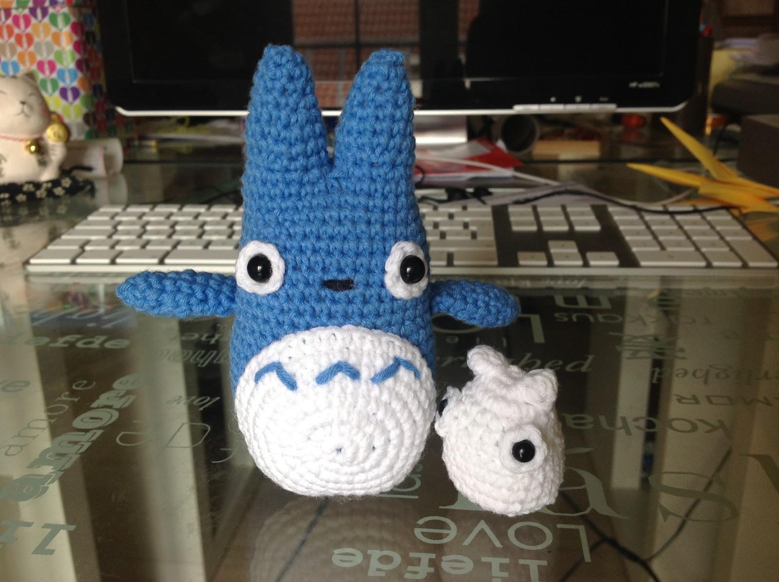 Totoro Azul Amigurumi : Sin sacapuntas totoro en amigurumi
