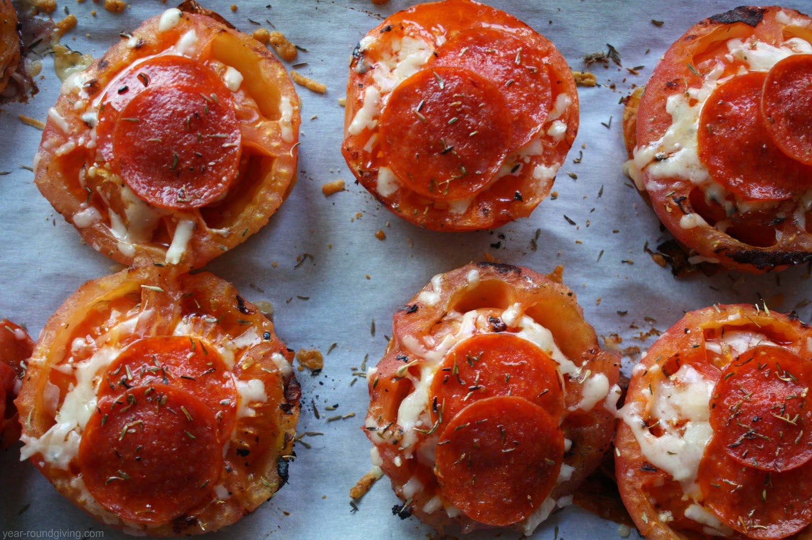 Grilled Tomatoes and Pepperoni
