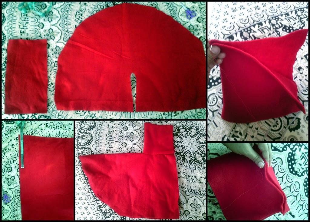 Disfraz de caperucita roja el - Como hacer figuras de fieltro paso a paso ...