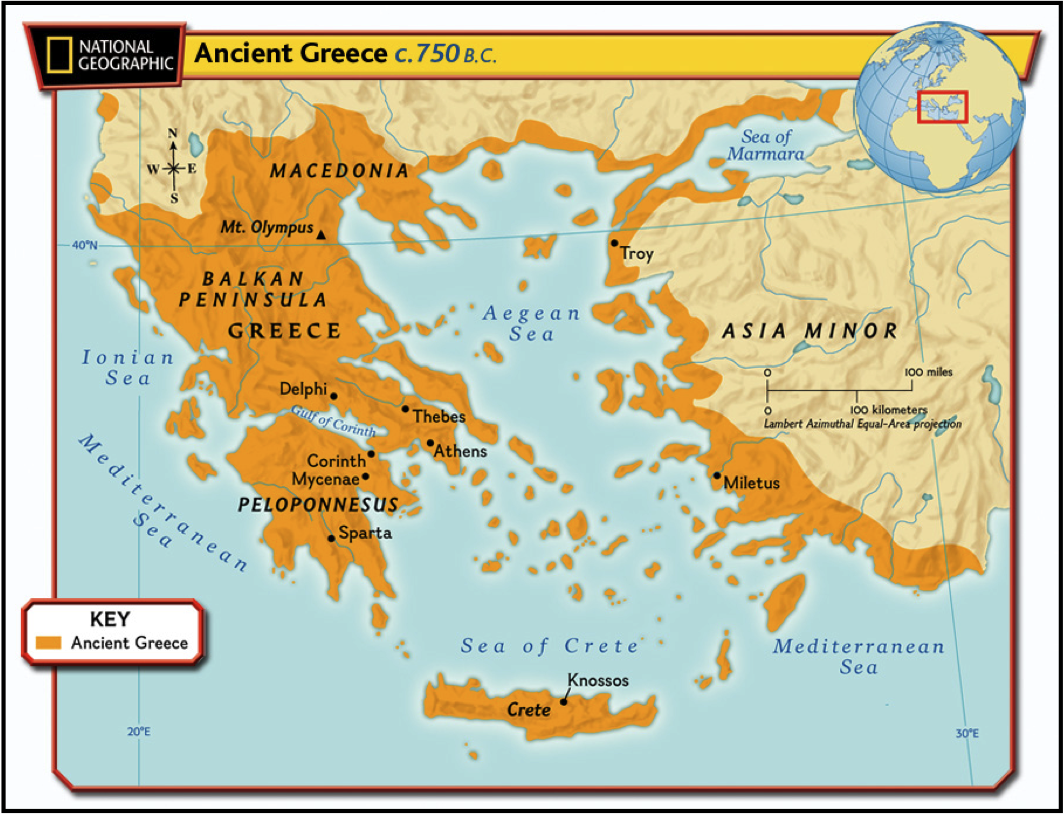 Maps Of Ancient Greece - Egypt interactive map