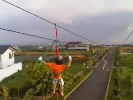 Panjang Flying Fox di Kampung Gajah Wonderland