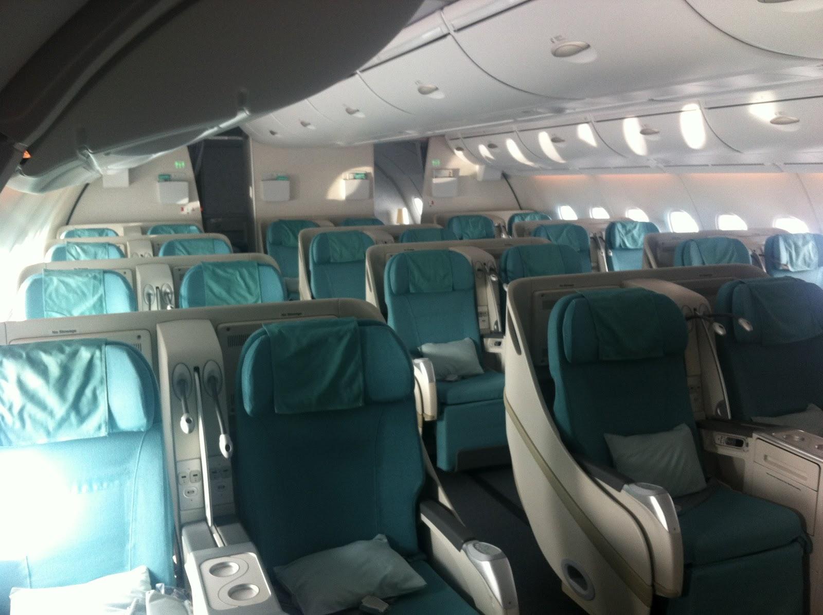 korean air a380 business class seoul new york tripatini. Black Bedroom Furniture Sets. Home Design Ideas