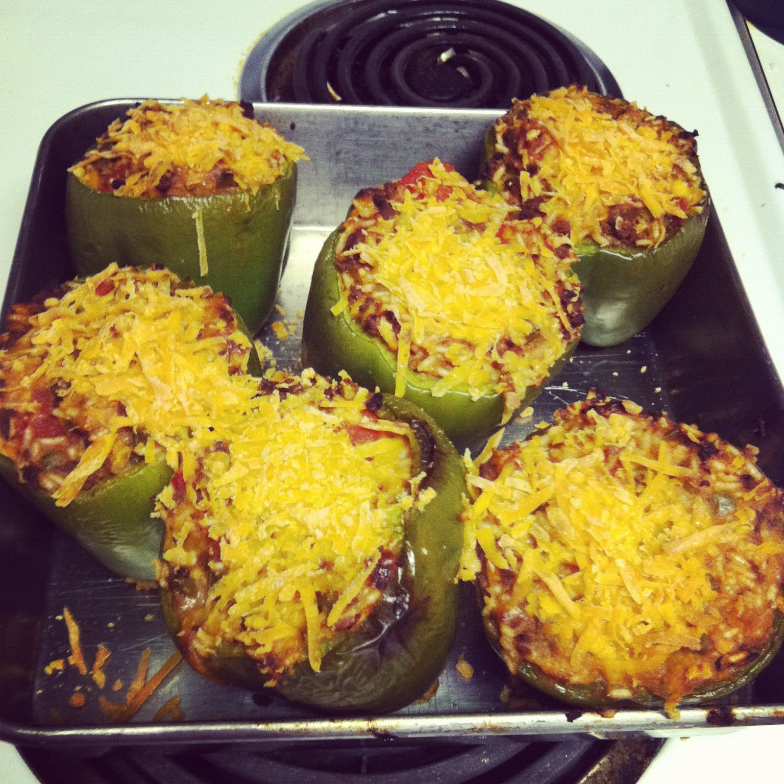 stuffed green peppers by david huston 6 large green peppers