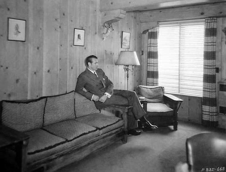 Gary Cooper in his dressing room.