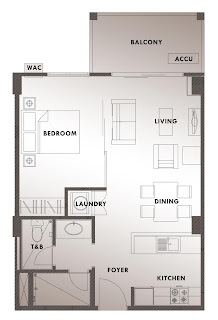 >Kasa Luntian Tagaytay One Bedroom Unit Plan