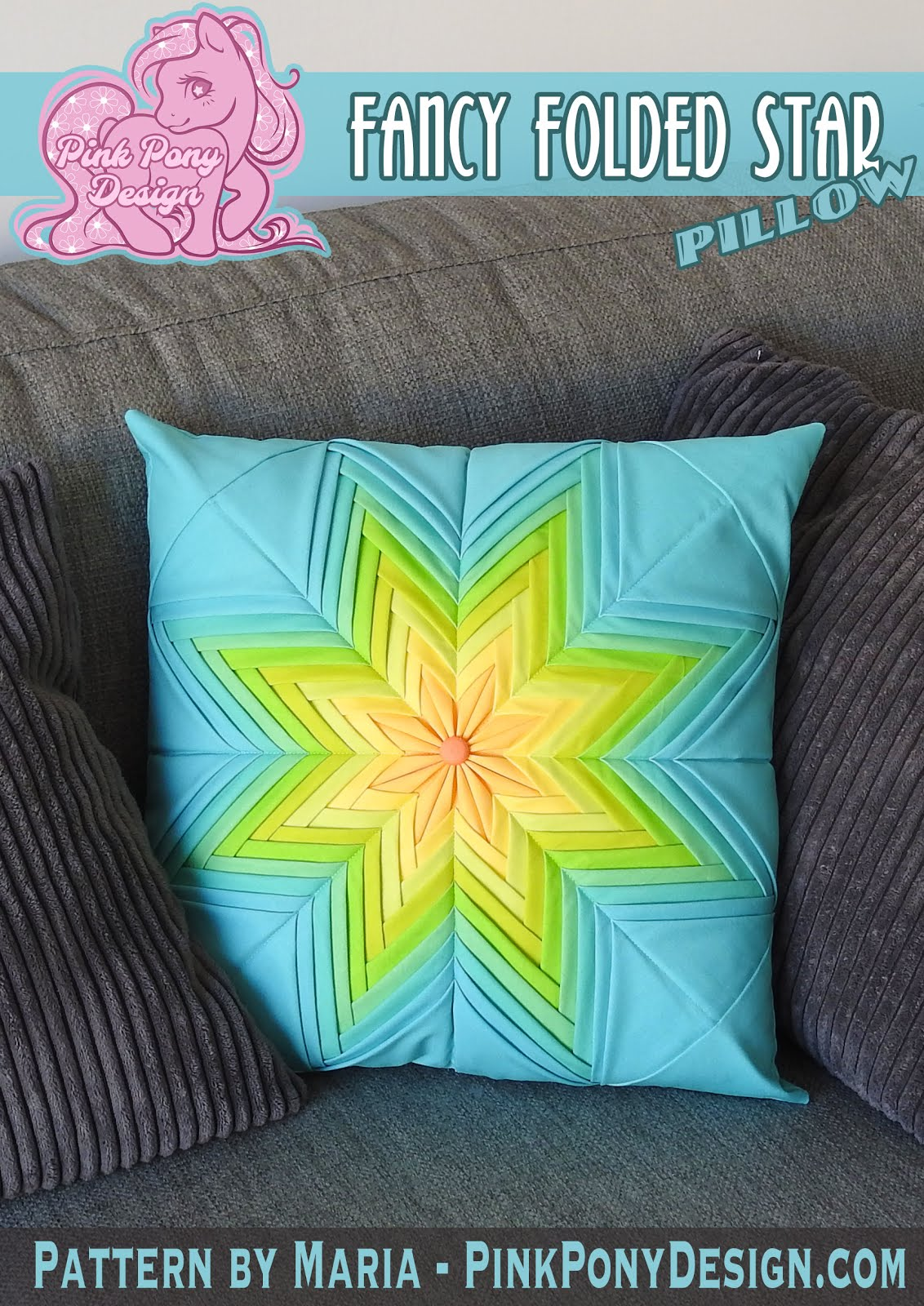 Fancy Folded Star Pillow