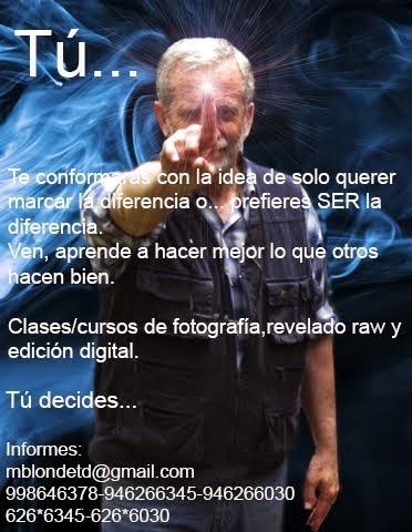 Clases/cursos de fotografía,revelado RAW y edición digital.