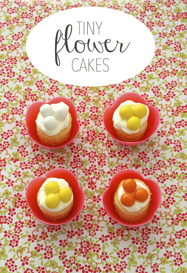 Tiny Flower Cakes5 Minute Birthday Cake Idea Thats Chic Portable