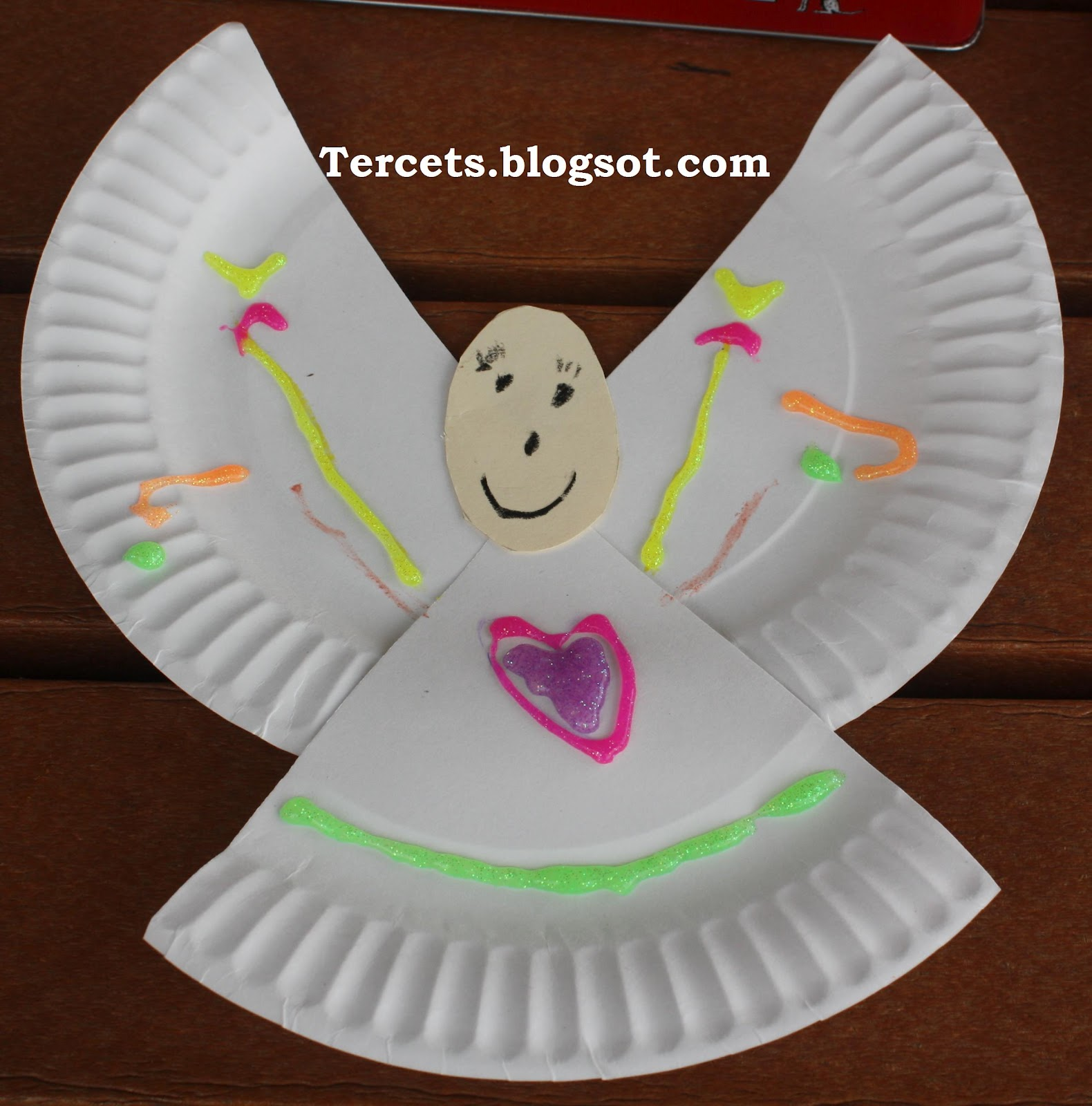 Christmas Crafts Paper Angels : Tercets angel craft for archangels or guardian angels