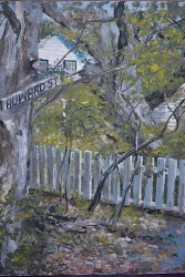 Howard Street on Ocracoke as depicted by artist Dave Benn.