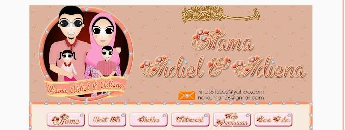 Tempahan Design Blog: Blog Mama Aidiel & Adiena