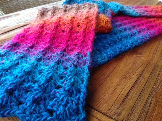 Sew Filomena V Stitch Crochet Scarf Pattern