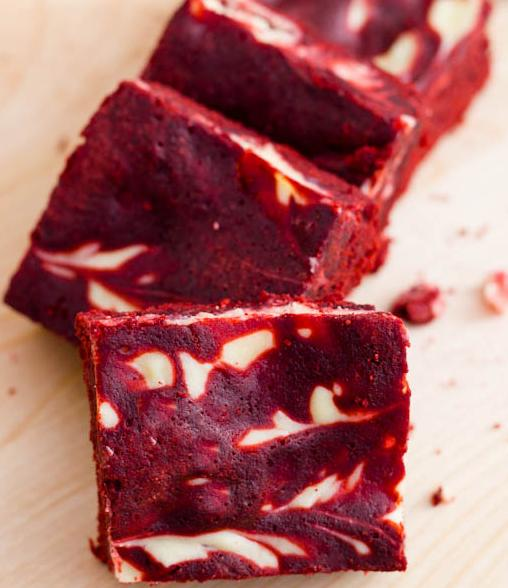 Red Velvet Swirl Cheesecake Brownies | C4 II