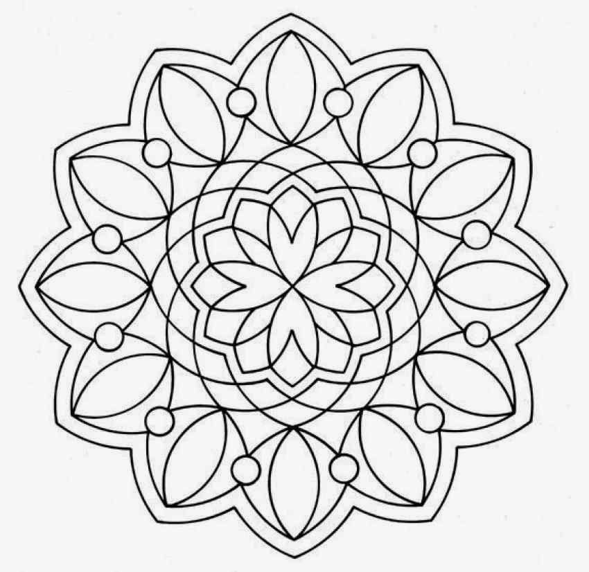 14 Flower Natural Advance Mandala Coloring Pages Print Out Picture For Kids