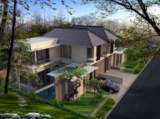 Desain Rumah Villa Minimalis