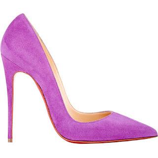 sapato christian louboutin violeta