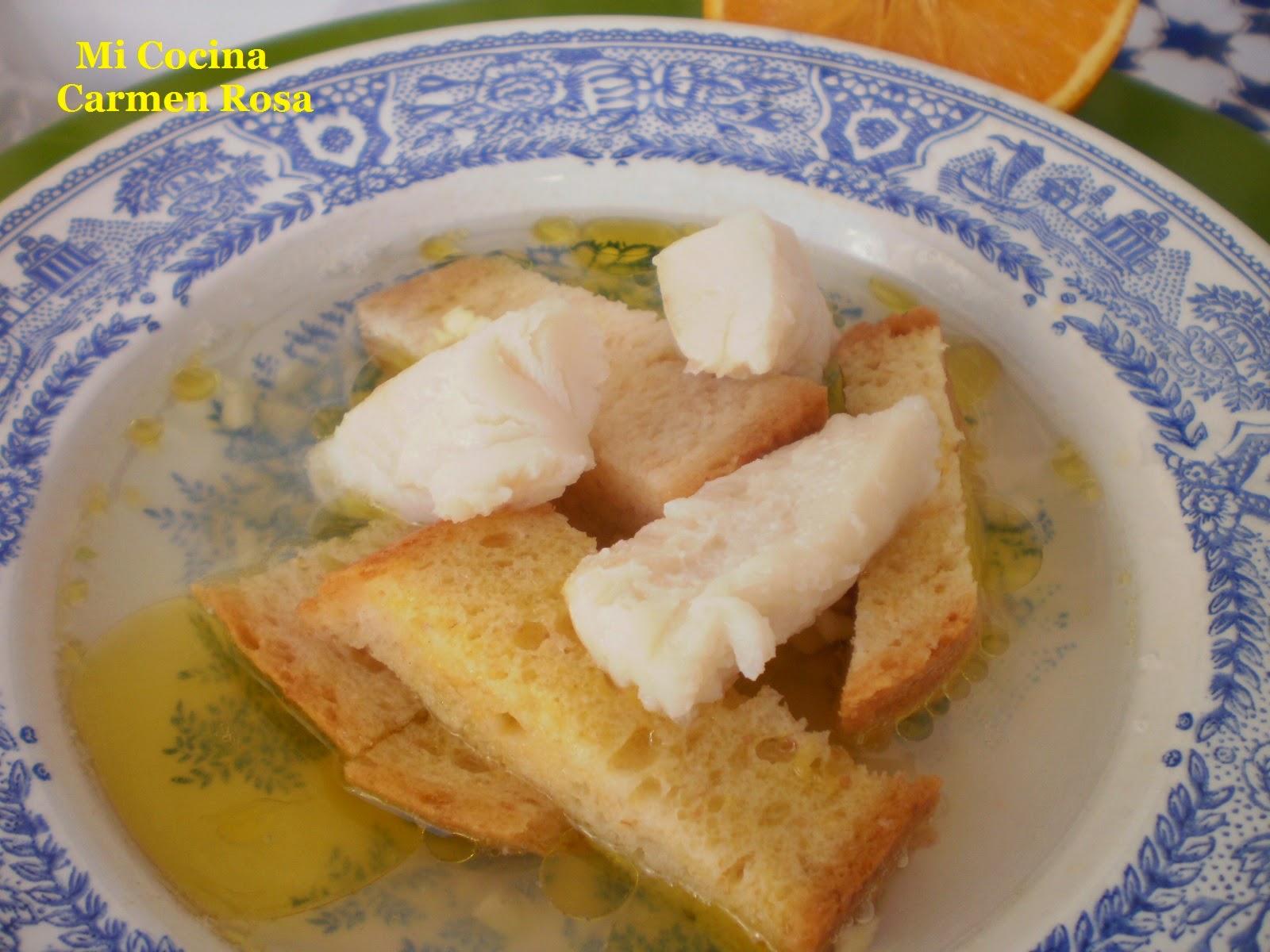 "Sopa ""matamarío"" (en Blanco De Bacalao Con Naranjas Cachorreñas)"
