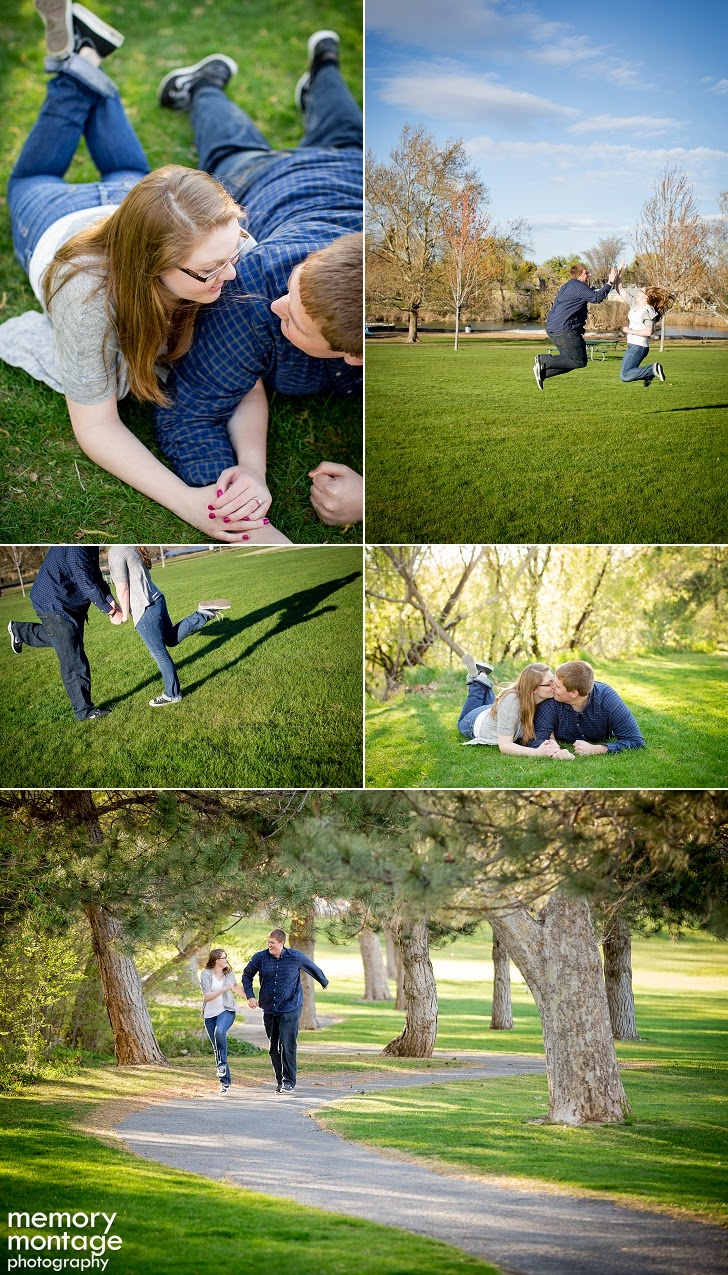 Randell Park Yakima, WA Engagement Session Memory Montage Photography