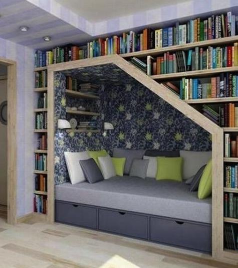 Unique Design Of Reading Room The Warrior Stack