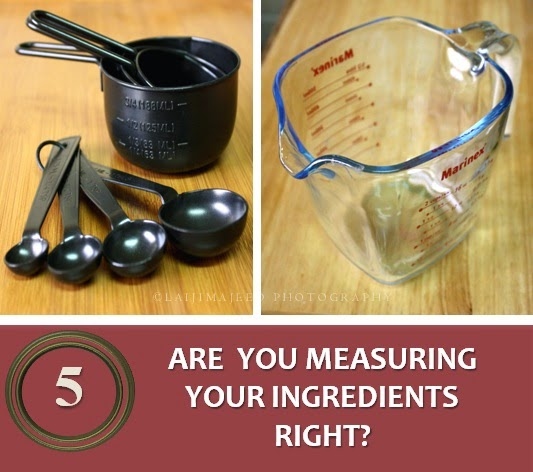 Are you measuring your ingredients right?