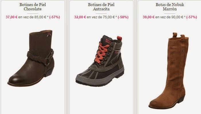 Algunos modelos de botines y botas de la marca Levi´s en oferta