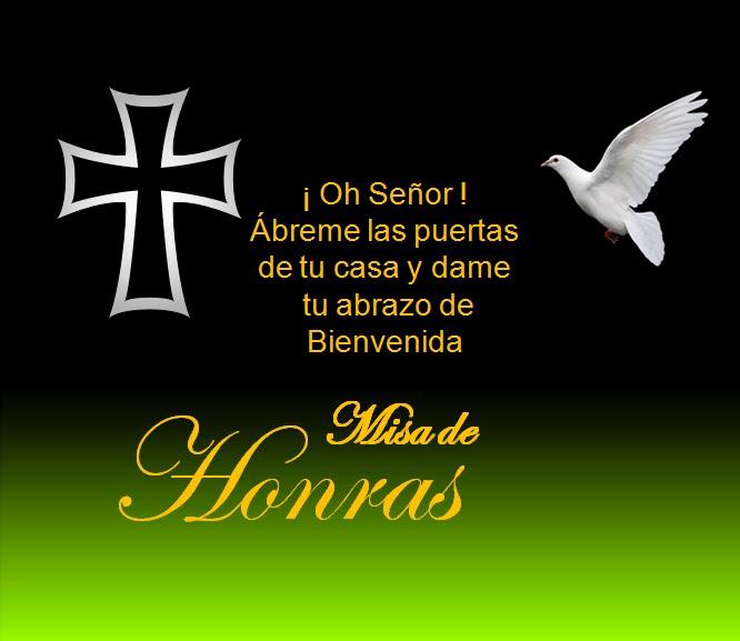 Oracion para tarjeta de invitación a misa de difunto - Imagui