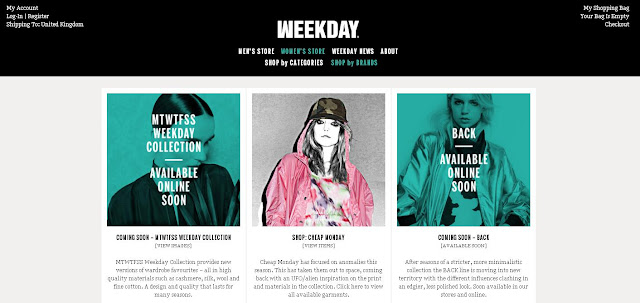 weekday launch online store