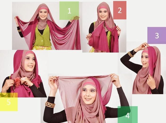 cara jilbab pashmina simpel