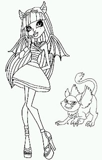 Monster High, Dibujos para Colorear, parte 1