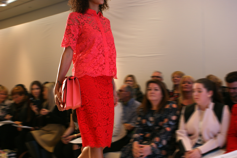 Marks and Spencer SS15 Fashion Show Manchester look 4 coral lace