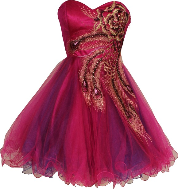 Unique metallic peacock shot tutu prom dresses under 50 dollars
