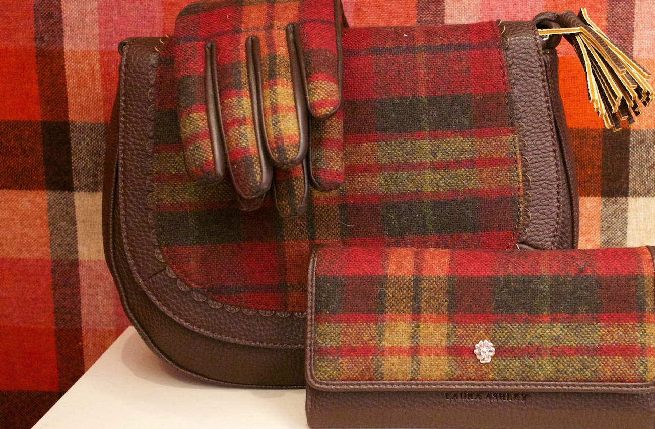 tweed laura ashley aw15 handbag and gloves