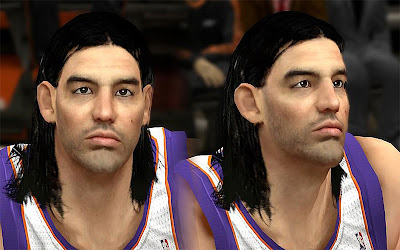 NBA 2K13 Luis Scola Cyberface Patch