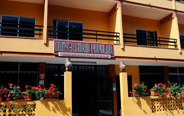 Resultado de imagen de universidad popular puerto de la cruz