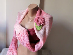 Pink wedding mohair shrug..Handmade.My own desig..