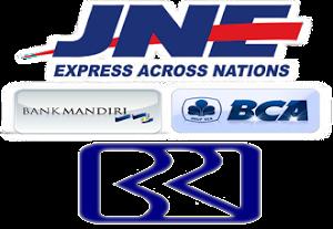 Kami bekerja sama  dengan JNE BCA BRI mandiri