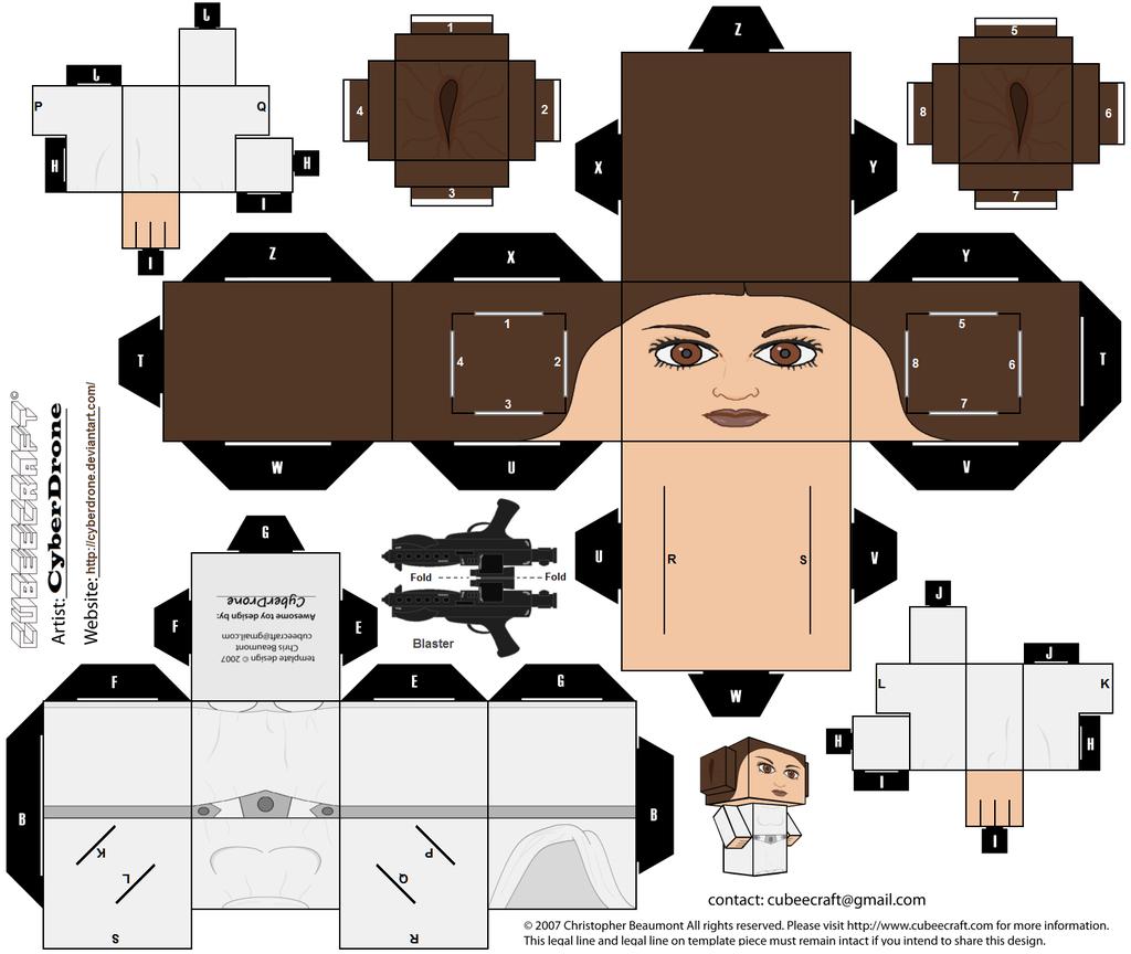 Papercraft Princess Leia Organa - Star Wars